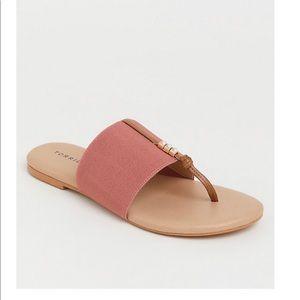 Torrid Blush elastic strap sandal